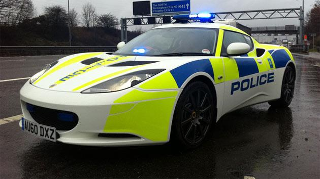 West Midlands Police use this 162mph Lotus Evora. This 276bhp sports car is capable of 0-62mph in 5.1 seconds.