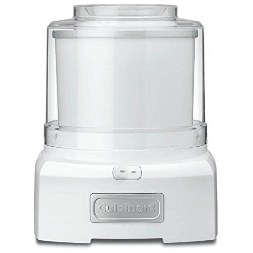 """<p><strong>Cuisinart</strong></p><p>amazon.com</p><p><strong>$39.99</strong></p><p><a href=""""https://www.amazon.com/dp/B003KYSLMW?tag=syn-yahoo-20&ascsubtag=%5Bartid%7C1782.g.31250312%5Bsrc%7Cyahoo-us"""" target=""""_blank"""">BUY NOW</a></p><p>For less than $40, you can get add this household name brand machine that makes ice cream, sorbet, and frozen yogurt. Cuisinart's model is one of the top-rated ice cream makers on Amazon, too, with an average rating of 4.5 stars.</p>"""
