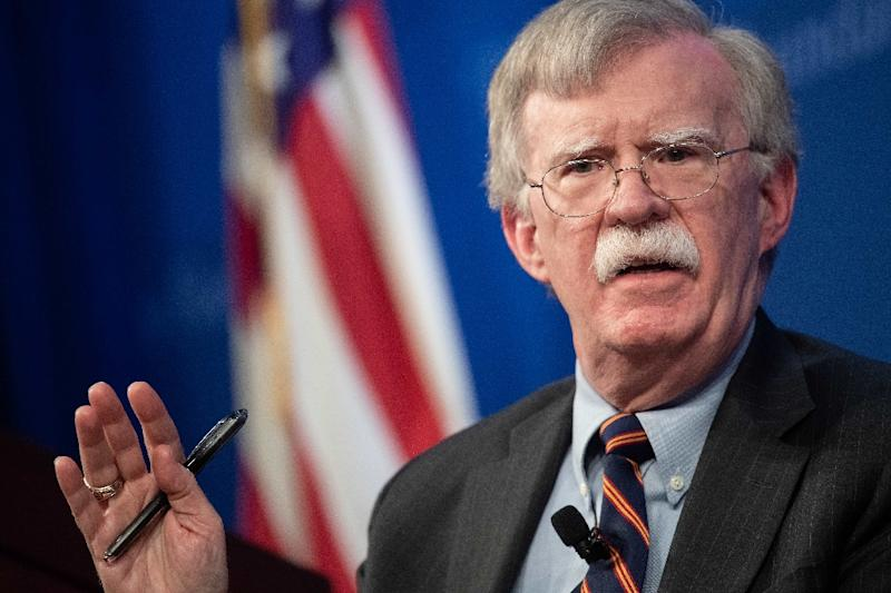 US National Security Advisor John Bolton was in Ankara to discuss the planned US withdrawal from Syria (AFP Photo/NICHOLAS KAMM)