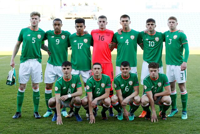 Soccer Football - UEFA European Under-17 Championship Quarter-Final - Netherlands vs Republic of Ireland - Proact Stadium, Chesterfield, Britain - May 14, 2018 Republic of Ireland team group before the match Action Images via Reuters/Jason Cairnduff