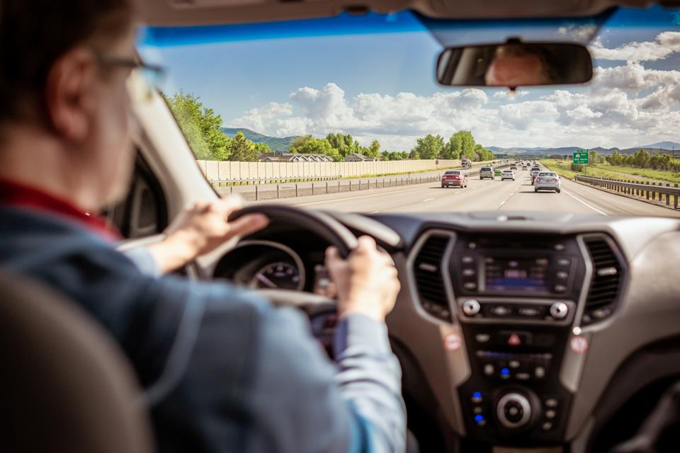 Man driving on open freeway. Source: Getty Images
