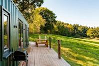 """<p>Providing you with the peace and tranquillity that the county is loved for, this Airbnb in Devon is an utter treat. A converted shipping container in the village of Poltimore, just a few miles from Exeter, this <a href=""""https://www.goodhousekeeping.com/uk/lifestyle/travel/a32876671/airbnb-most-wished-for-holiday-rentals/"""" rel=""""nofollow noopener"""" target=""""_blank"""" data-ylk=""""slk:quirky holiday rental"""" class=""""link rapid-noclick-resp"""">quirky holiday rental</a> is set in an attractive meadow with views of rolling countryside.</p><p>Inside, the Airbnb is stylish and cosy, with bespoke pine-topped stools, handmade reading chairs and board games. The kitchen is pretty fancy too.</p><p><strong>Sleeps</strong>: 4</p><p><strong>Price per night:</strong> £90</p><p><strong>Why we love it:</strong> The quirky Airbnb is super snug. After a long country walk, you can fire up the log burner, pour a glass of wine and relax in the cosy living space.</p><p><a class=""""link rapid-noclick-resp"""" href=""""https://www.airbnb.co.uk/rooms/plus/26621985/"""" rel=""""nofollow noopener"""" target=""""_blank"""" data-ylk=""""slk:SEE INSIDE"""">SEE INSIDE</a></p>"""