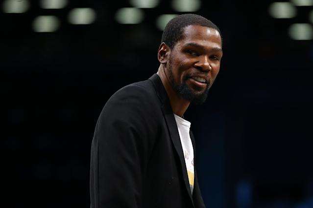 "<a class=""link rapid-noclick-resp"" href=""/nba/players/4244/"" data-ylk=""slk:Kevin Durant"">Kevin Durant</a> revealed one of the reasons he left the <a class=""link rapid-noclick-resp"" href=""/nba/teams/oklahoma-city/"" data-ylk=""slk:OKC Thunder"">OKC Thunder</a>. (Photo by Mike Stobe/Getty Images)"