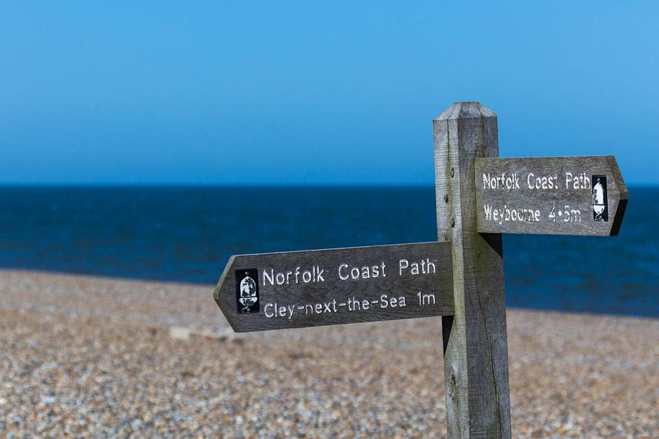 """<p>Perfect for walkers and wildlife-lovers, this two-mile stretch of shingle beach borders the Norfolk Wildlife Trust Cley Marshes, which is known as one of the best bird watching reserves in the UK. </p><p>The beach is home to nesting birds in spring and summer, and attracts migrating wildfowl and waders in winter, as well as common and grey seals. The village of Cley next the Sea is well worth a visit for its artisan shops, including hand-thrown pottery, deli, and tea shops. There's also great walking to be had on the Norfolk Coast Path.</p><p><strong>Where to stay: </strong>Head to the stylish boutique B&B<a href=""""https://go.redirectingat.com?id=127X1599956&url=https%3A%2F%2Fwww.booking.com%2Fhotel%2Fgb%2Fbyfords.en-gb.html%3Faid%3D2070936%26label%3Dnorfolk-beaches&sref=https%3A%2F%2Fwww.redonline.co.uk%2Ftravel%2Ftravel-guides%2Fg34735930%2Fnorfolk-beaches%2F"""" rel=""""nofollow noopener"""" target=""""_blank"""" data-ylk=""""slk:Byfords"""" class=""""link rapid-noclick-resp""""> Byfords</a>, which is also a restaurant, deli, and cafe in Holt, around a 10-minute drive from Cley next the Sea. Dating back to the 15th century, it's full of characterful features, like wooden beams, flagstone floors and large fireplaces. Bedrooms and bathrooms, however, come with a modern update. Grab a classic picnic hamper from the deli for your perfect day at the beach. </p><p><a class=""""link rapid-noclick-resp"""" href=""""https://go.redirectingat.com?id=127X1599956&url=https%3A%2F%2Fwww.booking.com%2Fhotel%2Fgb%2Fbyfords.en-gb.html%3Faid%3D2070936%26label%3Dnorfolk-beaches&sref=https%3A%2F%2Fwww.redonline.co.uk%2Ftravel%2Ftravel-guides%2Fg34735930%2Fnorfolk-beaches%2F"""" rel=""""nofollow noopener"""" target=""""_blank"""" data-ylk=""""slk:CHECK AVAILABILITY"""">CHECK AVAILABILITY</a></p>"""