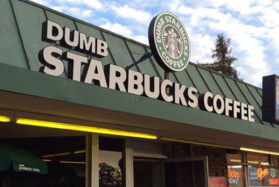 This is Dumb Starbucks, home of the Dumb Venti.