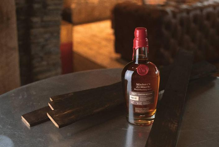 Maker's Mark Wood Finishing Series 2021 Limited Release: FAE-02 is coming to stores in Kentucky and nationally now. It is the second in the series that the distillery put out this year.