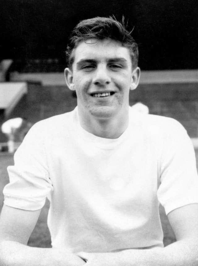 Peter Lorimer in his early days in the game as a 15-year-old inside forward at Leeds