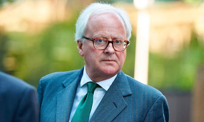 Former Barclays chief executive John Varley leaves Southwark crown court in south London on Monday.