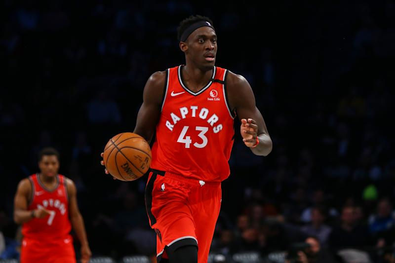 Pascal Siakam has done a decent Kawhi Leonard impression in the regular season. Can he carry it into the playoffs? (Mike Stobe/Getty Images)