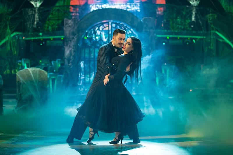 Michelle Visage and Giovanni Pernice were scored 39 out of 40 by the judges for their Foxtrot (Credit: BBC)