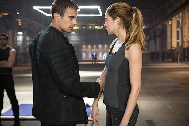 Theo James and Shailene Woodley in 'Divergent'