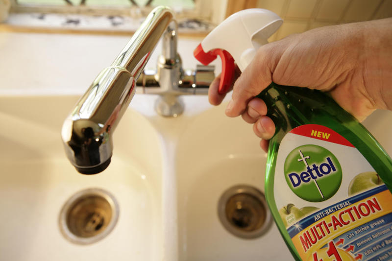 Pictured: Dettol anti-Bacterial spray, a Reckitt Benckiser brand. (Photo by: Newscast/Universal Images Group via Getty Images)