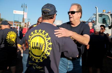 United Auto Workers union President Gary Jones attends the Labor Day Parade in Detroit