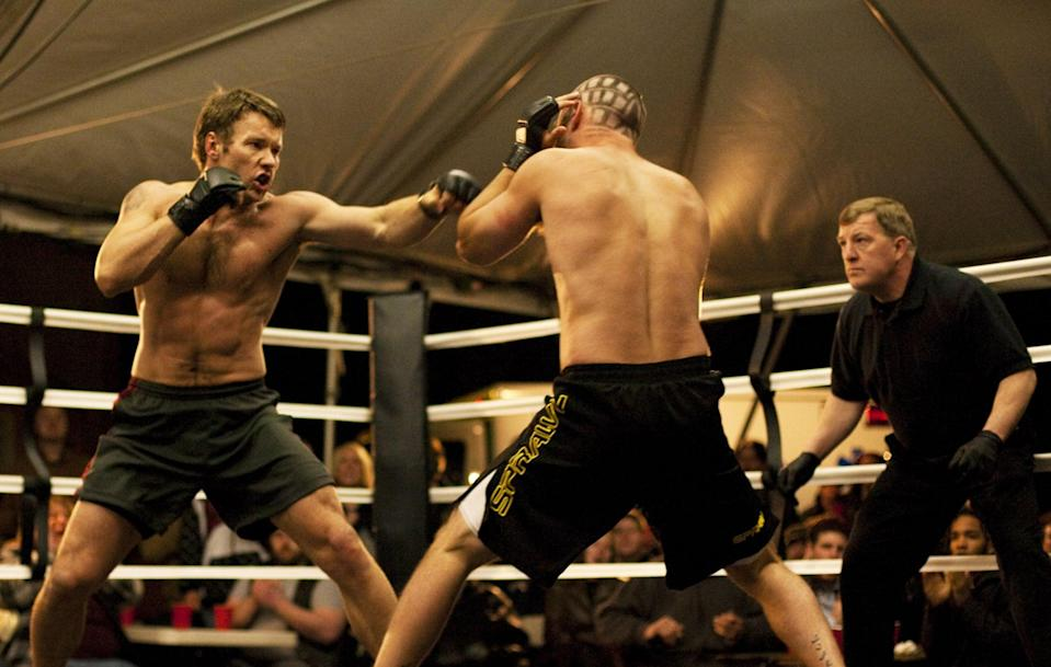 """<p>A former Marine, Tommy finds solace in the ring and recruits his father, a retired wrestling coach, to train him. Enrolled to fight in the biggest MMA tournament ever, Tommy learns he'll be facing his brother, Brendan, in the ring.</p> <p><a href=""""http://www.hulu.com/movie/warrior-59b05290-3dc3-4a68-a37e-dae176ea4e12"""" class=""""link rapid-noclick-resp"""" rel=""""nofollow noopener"""" target=""""_blank"""" data-ylk=""""slk:Watch Warrior on Hulu."""">Watch <strong>Warrior</strong> on Hulu.</a><br></p>"""