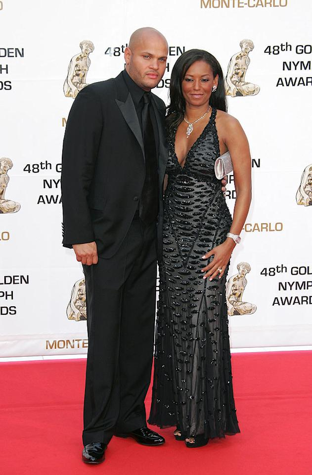 """Mel B and hubby Stephen Belafonte make a classy couple in their all-black ensembles. Tony Barson/<a href=""""http://www.wireimage.com"""" target=""""new"""">WireImage.com</a> - June 12, 2008"""