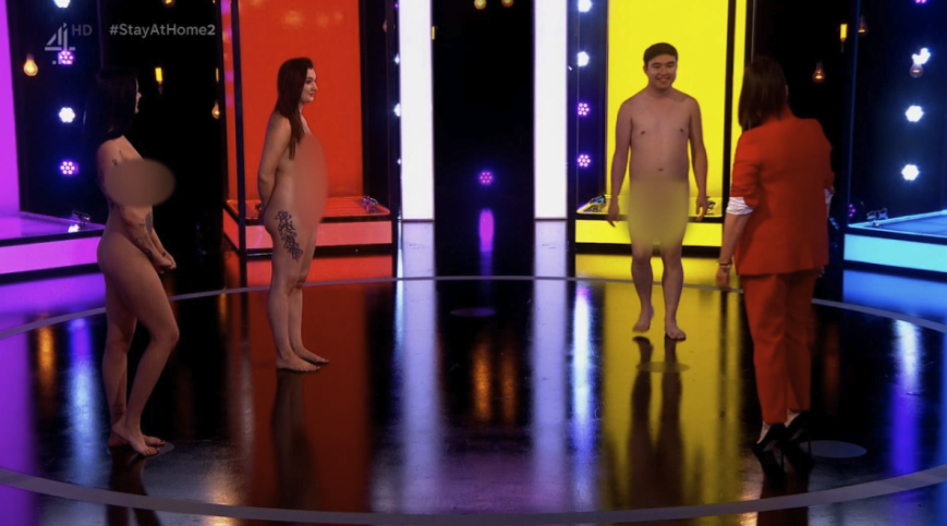 23-year-old virgin strips on Naked Attraction