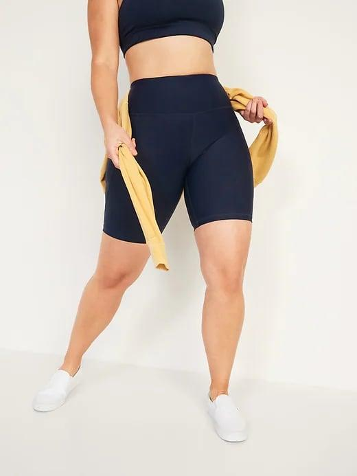 <p>Summer calls for these <span>Old Navy High-Waisted Powersoft Side-Pocket Biker Shorts</span> ($27).</p>
