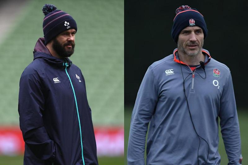 Andy Farrell (left) and Paul Gustard (right) (Getty Images)