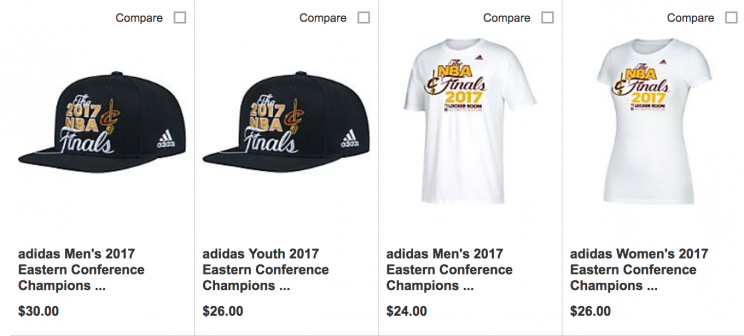 e406eea6b Cavaliers-branded  Eastern Conference champions  gear went on sale ...