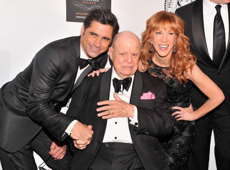 Rickles was photographed here in 2013 at The Friars Foundation Annual Applause Award Gala