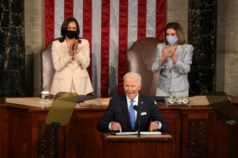 Joe Biden stressed diplomacy in his first address to Congress as US president, saying he is not seeking conflict with China or Russia but emphasizing American democratic values