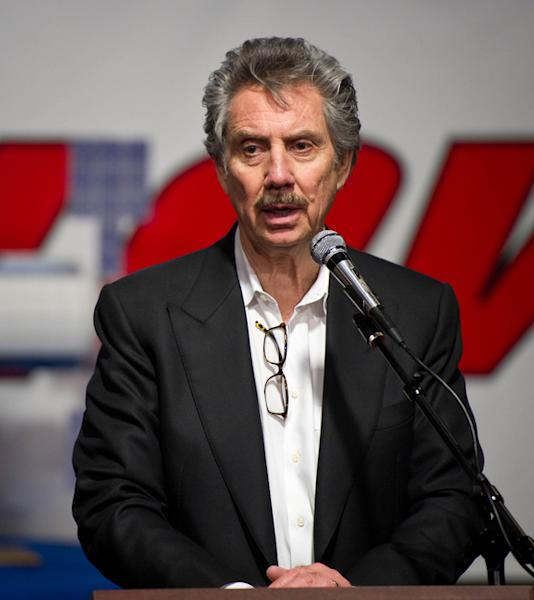 Bigelow Aerospace President Robert Bigelow talks during a press conference shortly after he and NASA Deputy Administrator Lori Garver toured the Bigelow Aerospace facilities on Friday, Feb. 4, 2011, in Las Vegas.