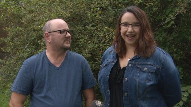 Jai Richards and Nicole White have been fighting for years to change the way parents are listed on Saskatchewan birth certificates. Now, that fight has led the province to change how parental status is determined.  (Matthew Garand/CBC - image credit)