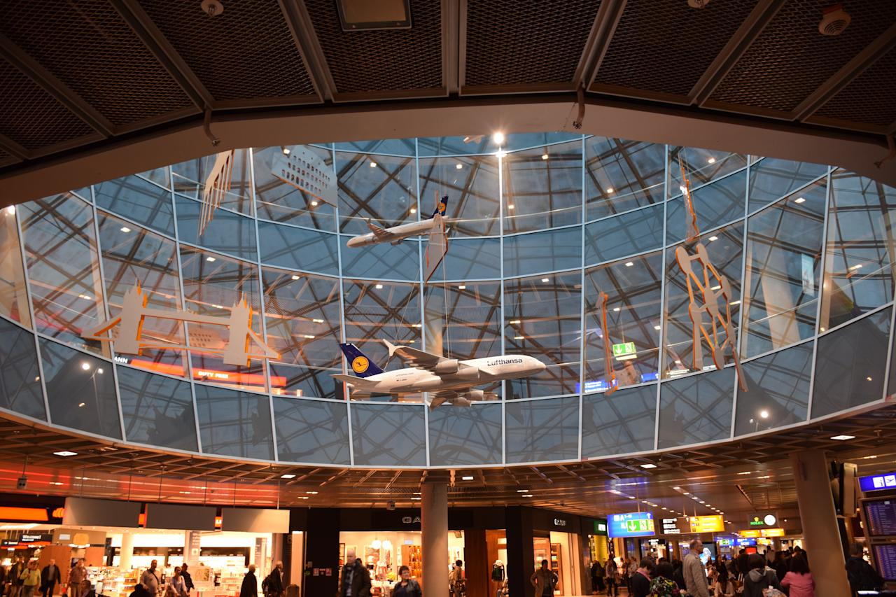 <p>No. 10: Frankfurt Airport (Germany)<br />Number 10 on the 2017 Skytrax World Airport Awards list, this airport is the fourth busiest by passenger traffic in Germany and serves as the main hub forLufthansa, Condor and AeroLogic. It is also the fourth busiest airport in Europe after London Heathrow, Paris–Charles de Gaulle and Amsterdam Schiphol.<br />(kenward/Creative Commons) </p>