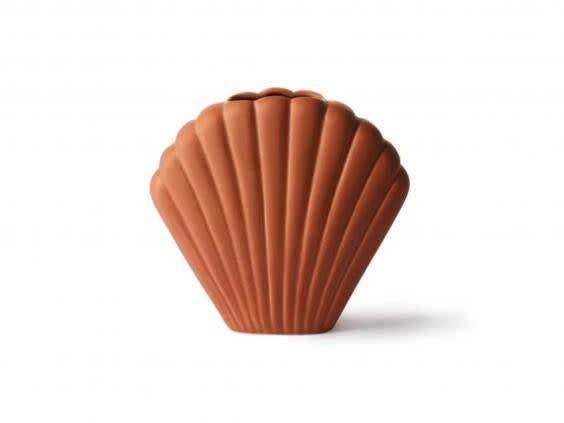 This terracotta vase depicting a shell is almost as good as being on the beach (Trouva)