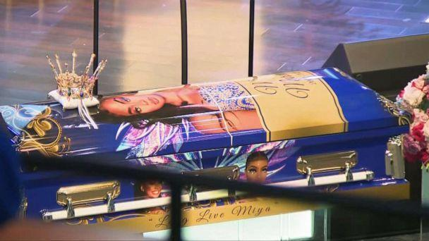 PHOTO: The casket for Miya Marcano at her funeral service, Oct. 14, 2021, at the Cooper City Church of God, in Cooper City, Fla. (WPLG)