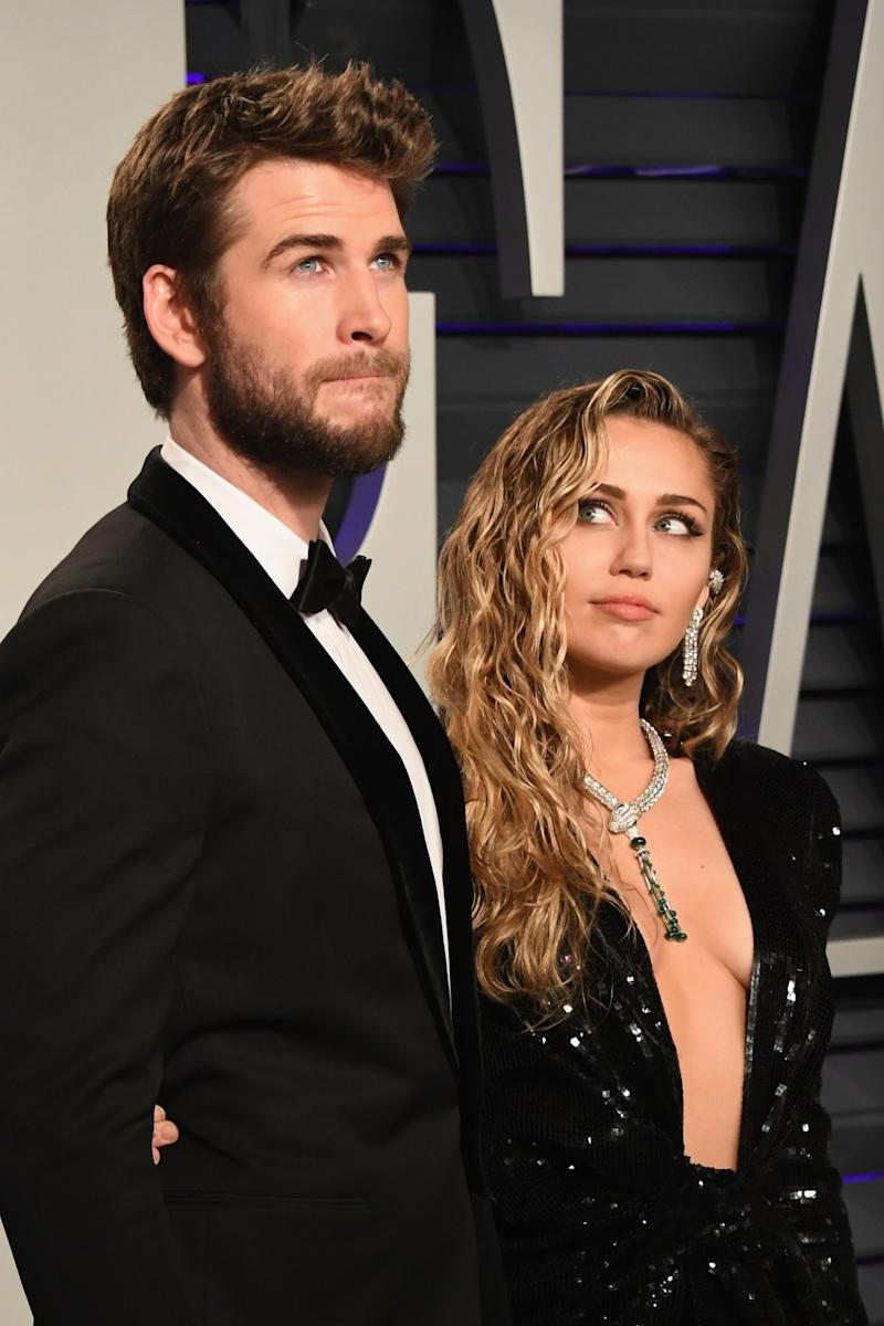 Cyrus and Hemsworth in 2019