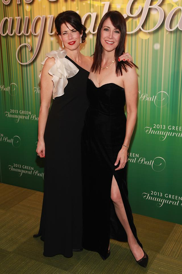 WASHINGTON, DC - JANUARY 20:  Actress Melissa Fitzgerald and comedienne Stephanie Miller attend the 2013 Green Inaugural Ball at NEWSEUM on January 20, 2013 in Washington, DC.  (Photo by Taylor Hill/Getty Images)