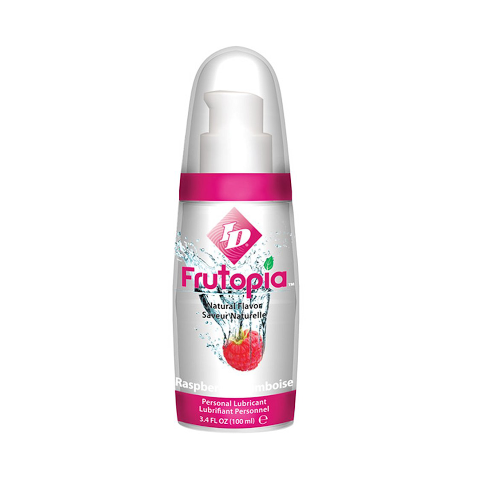 """Frutopia (no, not Fruitopia, the fruit juice beverage from our '90s lunchboxes) is a naturally flavored, water-based lube you can use with toys and condoms. Containing only six ingredients, this lube is free from parabens, sugars, and propylene glycol. While you can technically use this lube for penetration, it's still best to use flavored lubes externally. $8, Amazon. <a href=""""https://www.amazon.com/ID-Frutopia-Flavored-Lubricant-Raspberry/dp/B0078AFDA2?th=1"""" rel=""""nofollow noopener"""" target=""""_blank"""" data-ylk=""""slk:Get it now!"""" class=""""link rapid-noclick-resp"""">Get it now!</a>"""
