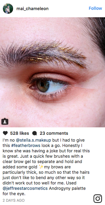 Eyebrows That Look Like Actual Feathers Are the Latest Polarizing Trend on Instagram