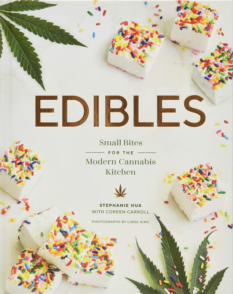 <p>The <span>Edibles: Small Bites for the Modern Cannabis Kitchen by Stephanie Hua and Coreen Carroll</span> ($20) is the perfect cookbook for cannabis newbies and connoisseurs with simple recipes like roasted beet hummus and artisanal marshmellows. The cookbook is filled with both sweet and savory recipes that are perfect for snacking and small bites. Co-author Coreen Carroll was the winner of the Netflix show <b>Cooked with Cannabis</b>.</p>