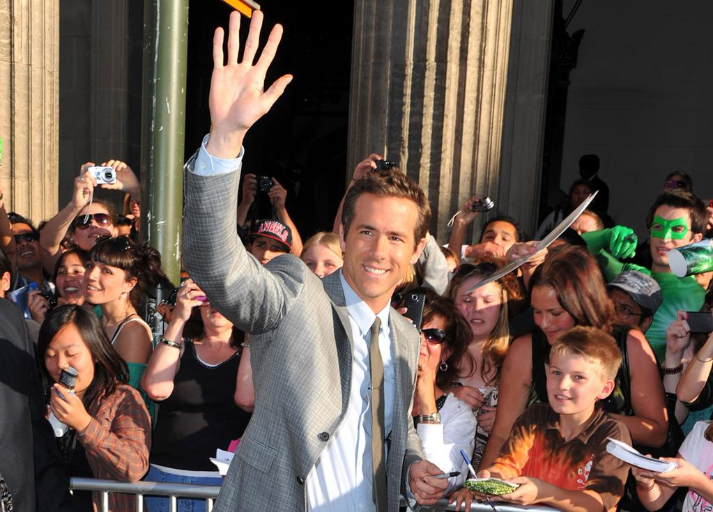 "<a href=""http://movies.yahoo.com/movie/contributor/1800025139"">Ryan Reynolds</a> at the Los Angeles premiere of <a href=""http://movies.yahoo.com/movie/1810166777/info"">Green Lantern</a> on June 15, 2011."