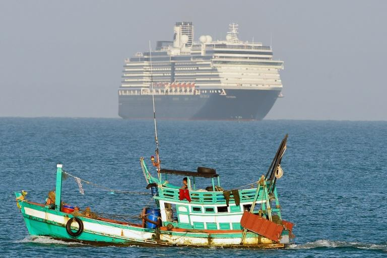 The Westerdam approaches Sihanoukville, where it is expected to dock