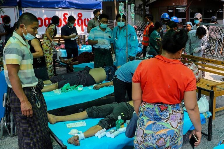 Protesters wounded by Myanmar's military junta during pro-democracy rallies against have been looking for alternative medical care, fearing arrest if they visit government-run hospitals
