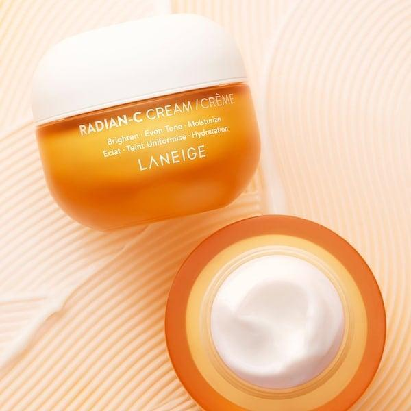 """<p><a href=""""https://www.popsugar.com/beauty/laneige-radian-c-cream-review-48083470"""" class=""""link rapid-noclick-resp"""" rel=""""nofollow noopener"""" target=""""_blank"""" data-ylk=""""slk:Our editors are already loving this"""">Our editors are already loving this</a> new <span>Laneige Radian-C Cream with Vitamin C</span> ($35). It's a thicker cream that doesn't feel too heavy when applied.</p>"""