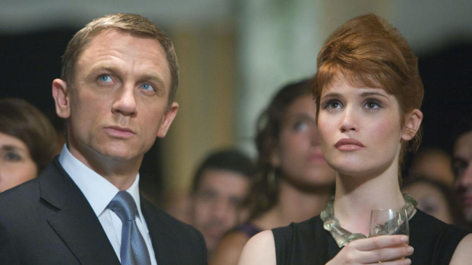 Daniel Craig and Gemma Arterton in 'Quantum of Solace'. (Credit: Eon/Sony)