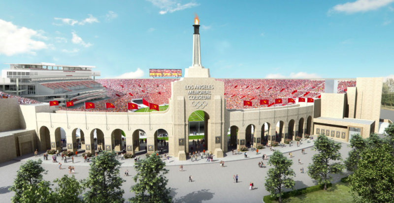 Los Angeles Memorial Coliseum Gets New Official Name in Groundbreaking Ceremony