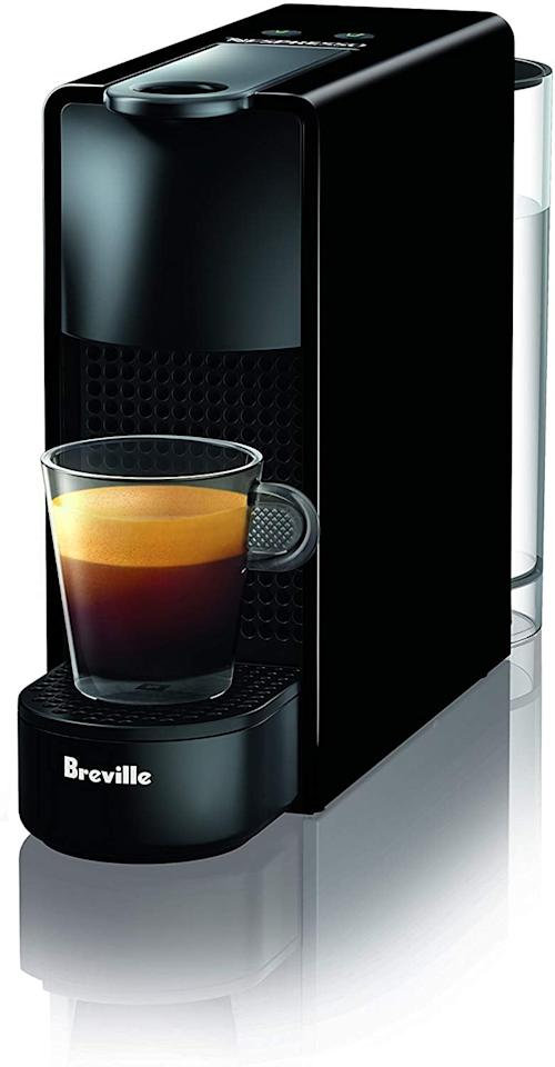 """<p>If you don't have a ton of counter space, this <a href=""""https://www.popsugar.com/buy/Nespresso-Essenza-Mini-Espresso-Machine-538066?p_name=Nespresso%20Essenza%20Mini%20Espresso%20Machine&retailer=amazon.com&pid=538066&price=132&evar1=casa%3Aus&evar9=47084366&evar98=https%3A%2F%2Fwww.popsugar.com%2Fphoto-gallery%2F47084366%2Fimage%2F47084372%2FNespresso-Essenza-Mini-Espresso-Machine&list1=shopping%2Camazon%2Ccoffee%2Ckitchen%20tools%2Ckitchens&prop13=api&pdata=1"""" rel=""""nofollow"""" data-shoppable-link=""""1"""" target=""""_blank"""" class=""""ga-track"""" data-ga-category=""""Related"""" data-ga-label=""""https://www.amazon.com/Nespresso-Essenza-Original-Espresso-Breville/dp/B073ZGWN12/ref=sxin_3_osp3-61755acc_cov?ascsubtag=61755acc-8859-42f4-8076-73181c949826&amp;creativeASIN=B073ZGWN12&amp;crid=2YEQW071UK11B&amp;cv_ct_cx=nespresso+machine&amp;cv_ct_id=amzn1.osp.61755acc-8859-42f4-8076-73181c949826&amp;cv_ct_pg=search&amp;cv_ct_wn=osp-search&amp;keywords=nespresso+machine&amp;linkCode=oas&amp;pd_rd_i=B073ZGWN12&amp;pd_rd_r=d91e4274-9a6b-4512-b172-5dcc402bc775&amp;pd_rd_w=RJ2VP&amp;pd_rd_wg=IvFIN&amp;pf_rd_p=e1262d27-368d-44f1-a337-220e1af8b014&amp;pf_rd_r=VHA7G69YNVMJ0D1B6F74&amp;qid=1578497691&amp;sprefix=nespresso+m%2Caps%2C216&amp;tag=imoreosp-20"""" data-ga-action=""""In-Line Links"""">Nespresso Essenza Mini Espresso Machine</a> ($132, originally $150) is the one for you. It's one of the company's most compact machines, and it's super portable, so if you wanted to move it to the dining table or even the bedroom, it's easy to do. This one also comes with an original 14-capsule starter pack, so you can find your favorite blend.</p>"""