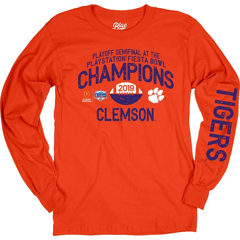 Women's Clemson 2019 Fiesta Bowl Champions Oversized Long Sleeve T-Shirt