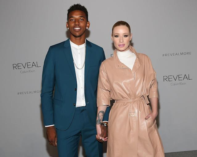 Nick Young and Iggy Azalea in New York in 2014. (Photo: Getty Images)