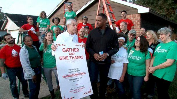 PHOTO: Jim McIngvale, better known as 'Mattress Mack,' announced on 'Good Morning America,' he will host a Thanksgiving dinner at one of his stores in Houston. (ABC News)