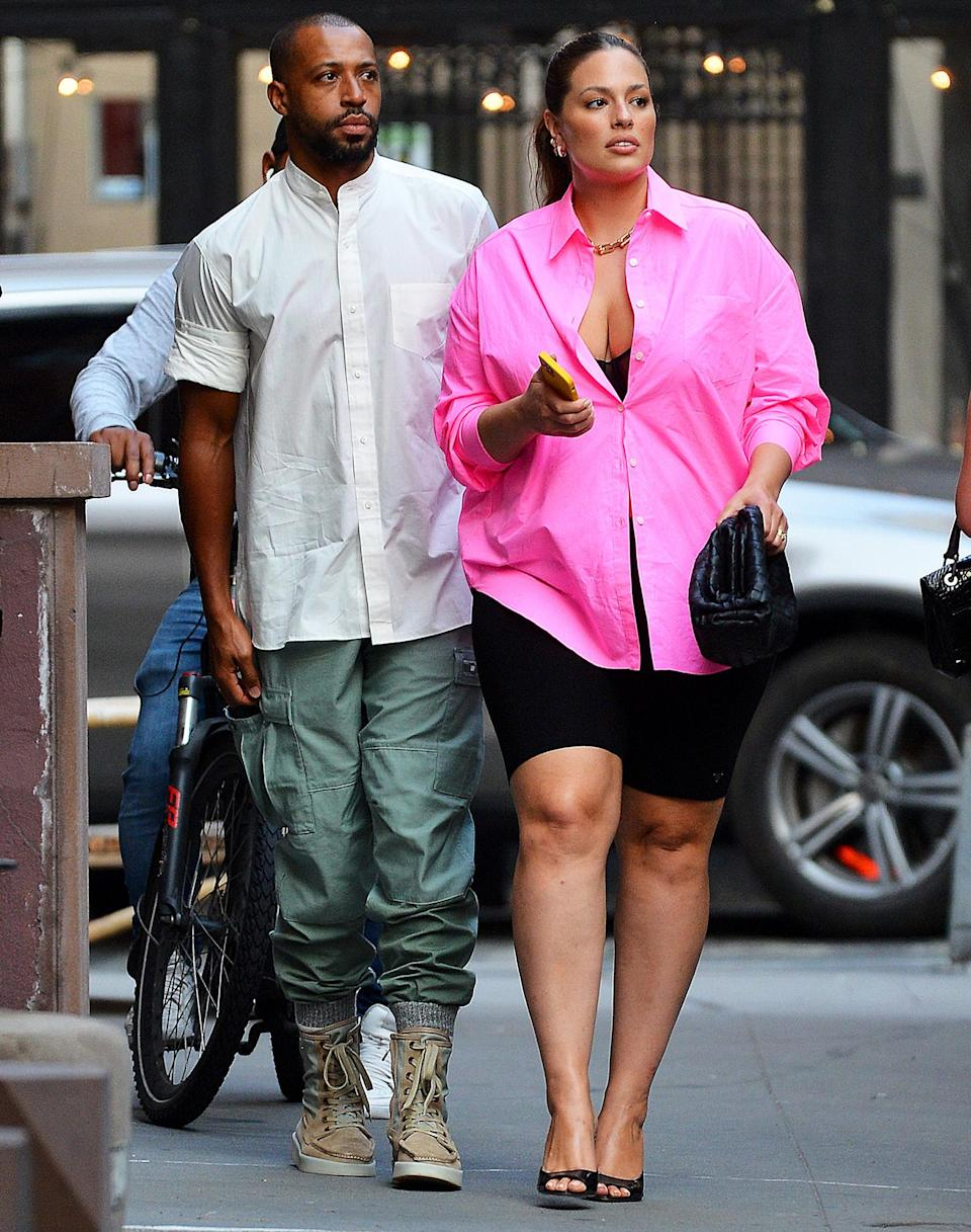 <p>Ashley Graham steps out in N.Y.C. with husband Justin Ervin on July 15.</p>