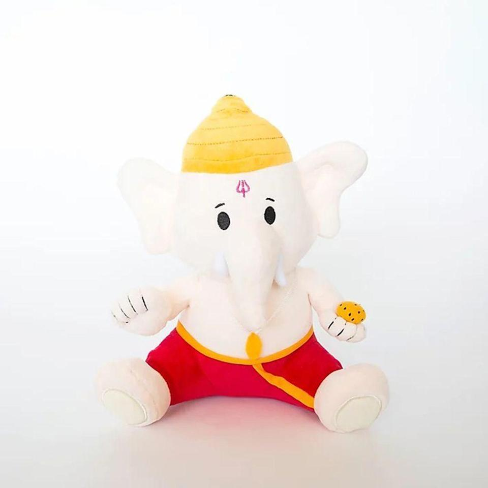 """<p><strong>modi toys</strong></p><p>moditoys.com</p><p><strong>$30.00</strong></p><p><a href=""""https://www.moditoys.com/product-page/personalization"""" rel=""""nofollow noopener"""" target=""""_blank"""" data-ylk=""""slk:Shop Now"""" class=""""link rapid-noclick-resp"""">Shop Now</a></p><p>Lord Ganesha is a popular <a href=""""https://www.artofliving.org/wisdom/knowledge-sheets/symbolism-ganesha"""" rel=""""nofollow noopener"""" target=""""_blank"""" data-ylk=""""slk:Hindu mythology god who is known for his wisdom and great knowledge"""" class=""""link rapid-noclick-resp"""">Hindu mythology god who is known for his wisdom and great knowledge</a>. For your kids who are into hearing retellings of mythological stories of the past, the tales of Ganesha will quickly become their favorite thing. </p><p>This baby Ganesh plush is ridiculously soft and acts as the perfect addition to story time. You can even personalize it with your tot's name to make it extra special. With an ability to recite three Ganapati mantras, your little one will learn more about the popular deity while falling in love with his adventurous stories. </p>"""
