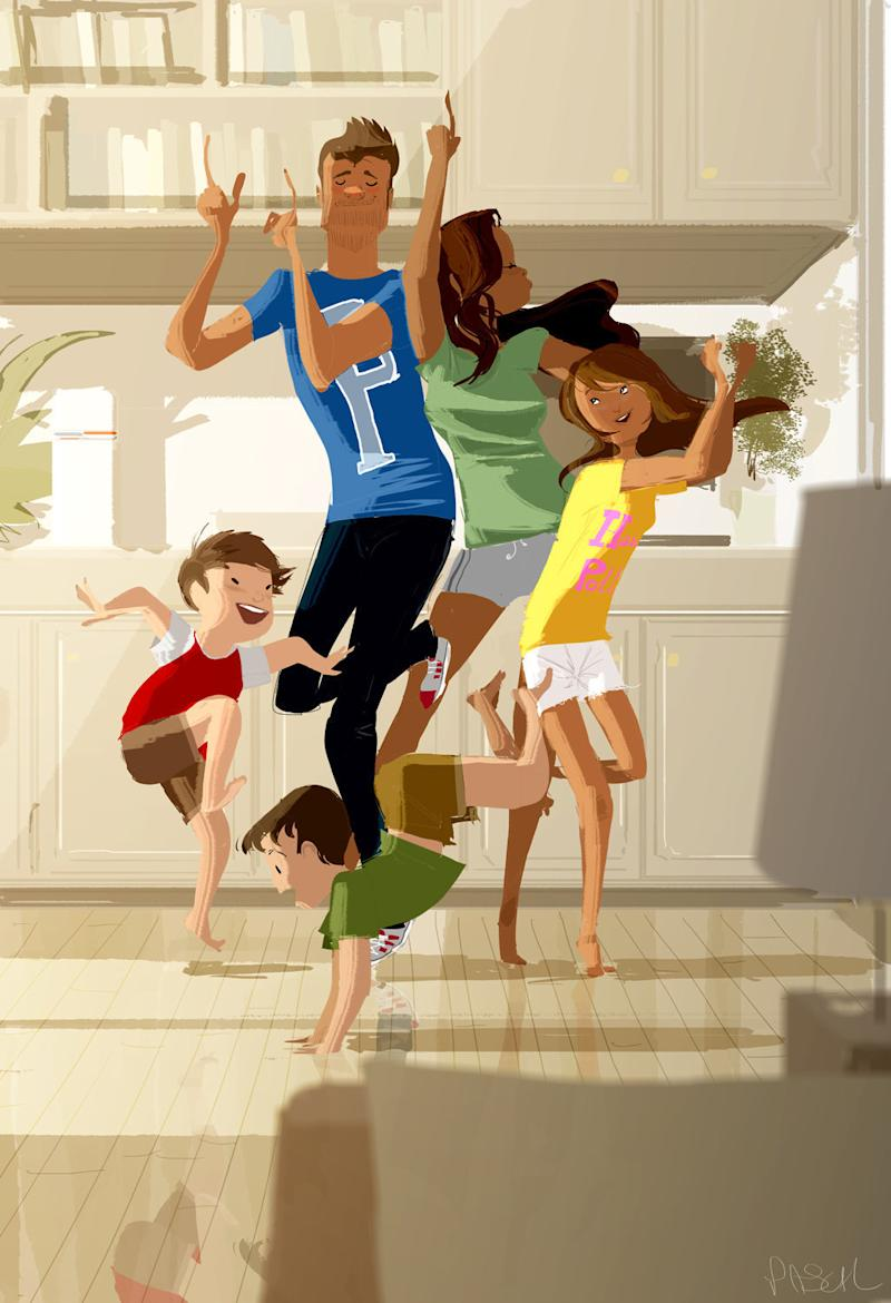 The artist's family is the inspiration behind much of his work. (Pascal Campion Art)