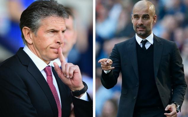 Claude Puel's Southampton take on Pep Guardiola's Champions League chasing City
