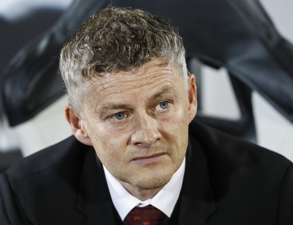 BELGRADE, SERBIA - OCTOBER 24: Manager Ole Gunnar Solskjaer of Manchester United looks on prior the UEFA Europa League group L match between Partizan and Manchester United at Partizan Stadium on October 24, 2019 in Belgrade, Serbia. (Photo by Srdjan Stevanovic/Getty Images)